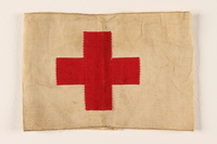 2005.416.3 front Armband with embroidered red cross used by US Army medic  Click to enlarge