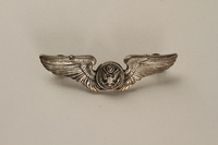 2005.416.8 front Sterling silver US Airman's wing crew pin owned by a US medic  Click to enlarge