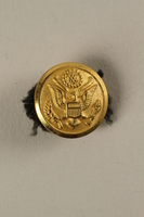 2005.416.18 front US Army soldier's gold button with an embossed eagle  Click to enlarge
