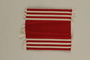 US Army soldier's red and white striped ribbon