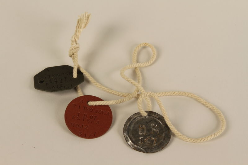 2002.539.3 front Polish Army dog tags
