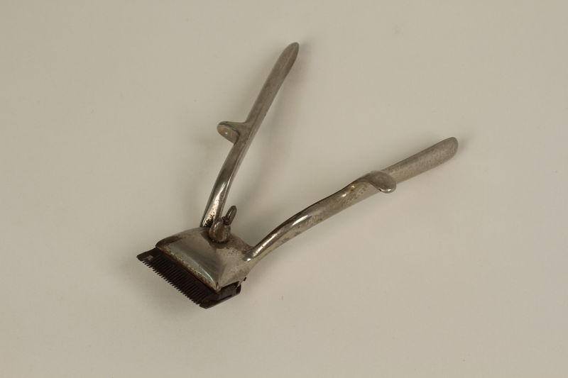 2005.457.13 front Manual hair clipper used in a concentration camp