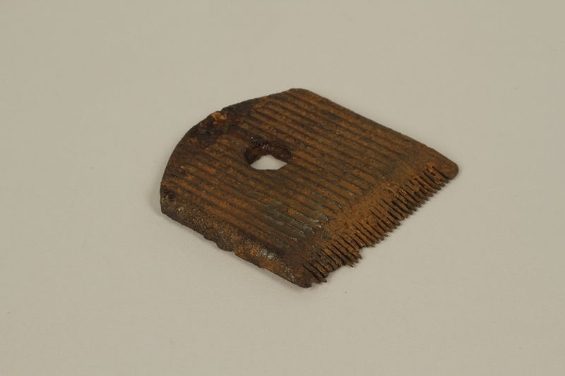 2005.457.24 front Blade for a manual hair clipper used in a concentration camp