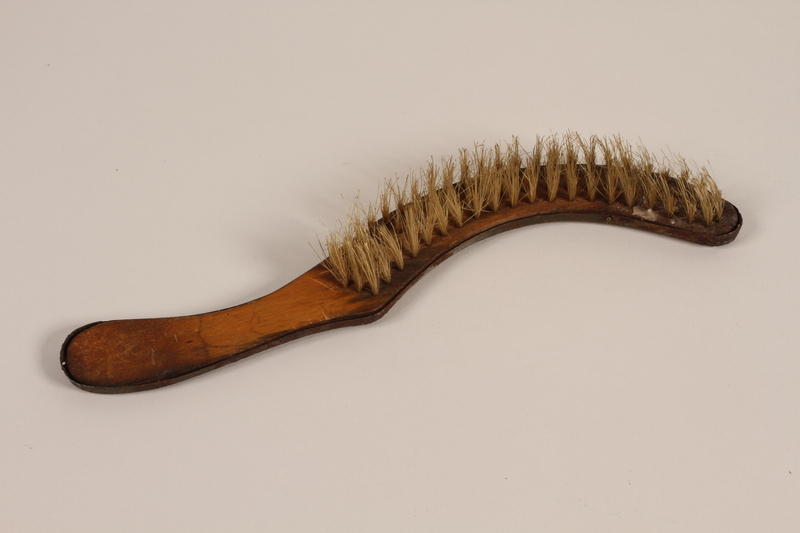 2005.457.31 front Hat brush used by a barber in a concentration camp
