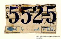 Theresienstadt ghetto-labor camp food ration coupon used by an Austrian Jewish inmate  Click to enlarge