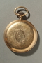Gold engraved pocket watch owned by a German Jewish refugee