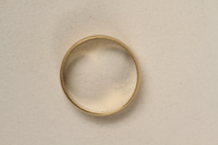 2005.546.3 front Engraved gold wedding band that belonged to a German Jewish refugee  Click to enlarge