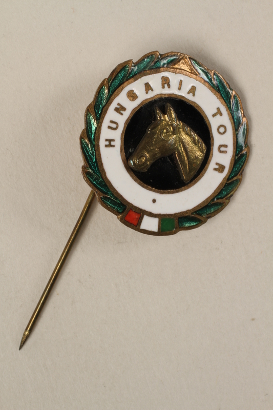 2006.19.4 front HUNGARIA TOUR stickpin owned by a German Jewish businessman in Shanghai