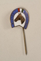 Horseshoe shaped stickpin with blue border owned by a German Jewish businessman in Shanghai