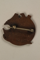 2006.19.10 back Kosciusko Alpine Club ski pin owned by a German Jewish businessman in Shanghai  Click to enlarge