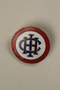 Pin with an IHC monogram owned by a German Jewish businessman in Shanghai