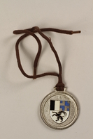 2006.19.14 back Celerina ski school medal owned by a German Jewish businessman in Shanghai  Click to enlarge