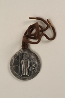 2006.19.16 complete Decorative medal with St. Bernard with a ski and a dog owned by a German Jewsh businessman in Shanghai  Click to enlarge