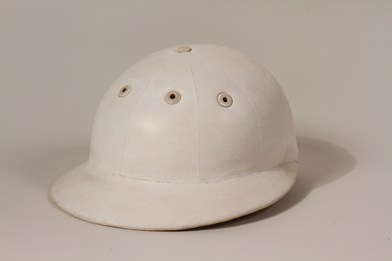 2006.19.29 top White polo helmet owned by a German Jewish businessman in Shanghai