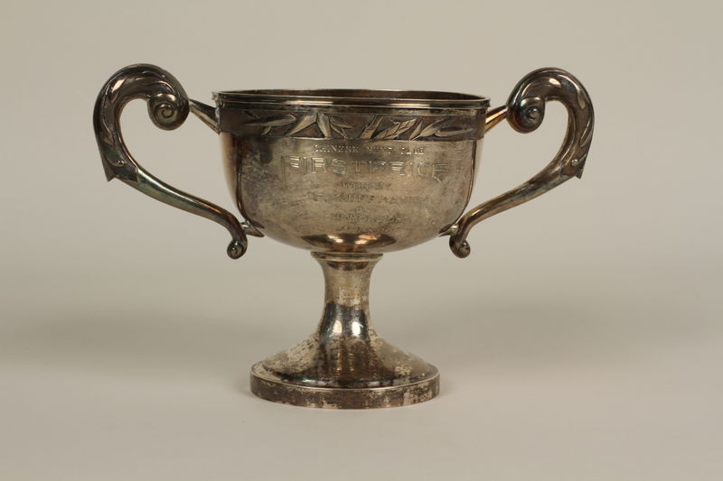 2006.19.32 front Chinese Hunt Club silver trophy cup awarded to a German Jewish businessman in Shanghai