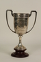 Recreation Club of Shanghai silver trophy cup with wooden base awarded to a German Jewish businessman in Shanghai