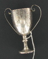 Second prize silver trophy cup with wooden base awarded to a German Jewish businessman in Shanghai  Click to enlarge