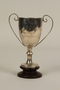 Second prize silver trophy cup with wooden base awarded to a German Jewish businessman in Shanghai