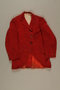 Red hunt jacket owned by a German Jewish businessman in Shanghai