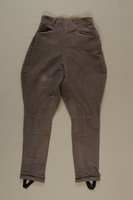 2006.419.53 front Gray cloth jodhpurs owned by a German Jewish businessman in Shanghai  Click to enlarge