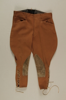 2006.19.54 front Brown riding breeches owned by a German Jewish businessman in Shanghai  Click to enlarge