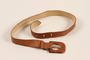 Tan leather belt owned by a German Jewish businessman in Shanghai