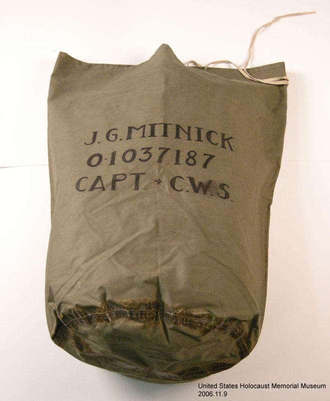 2006.11.9, US Army duffle bag, J. George Mitnick Collection US Army duffel bag used by a soldier