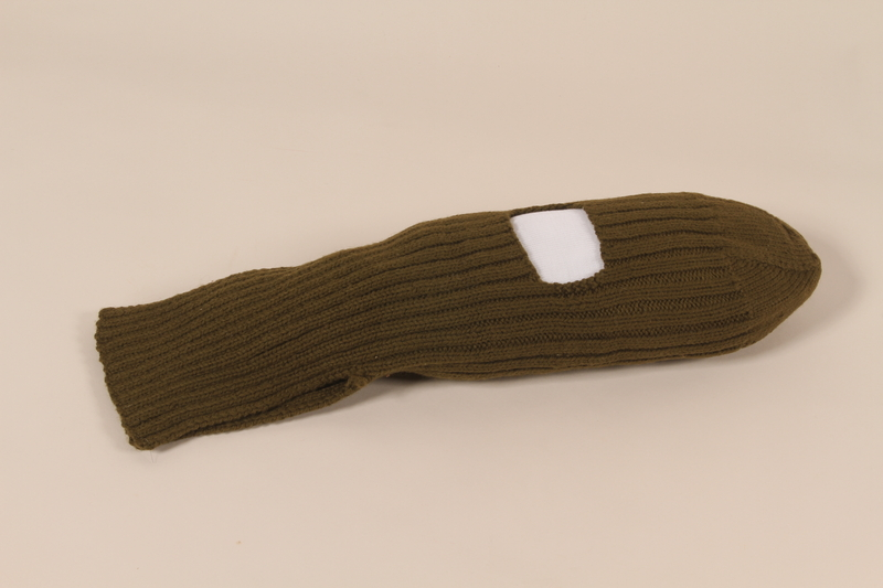 2006.11.14 front US Army olive drab knit balaclava used by a soldier