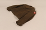 US Army captain's Eisenhower jacket worn by a soldier