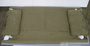 US Army olive drab canvas bed roll used by a soldier