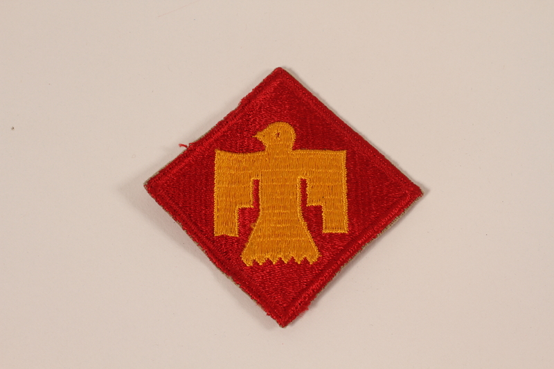 2006.11.21 front US Army, 45th Infantry Division, Class A Thunderbird patch issued to a Jewish soldier