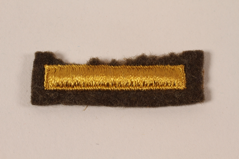 2006.11.25 front US Army 2nd Lieutenant subdued marking patch issued to a Jewish soldier
