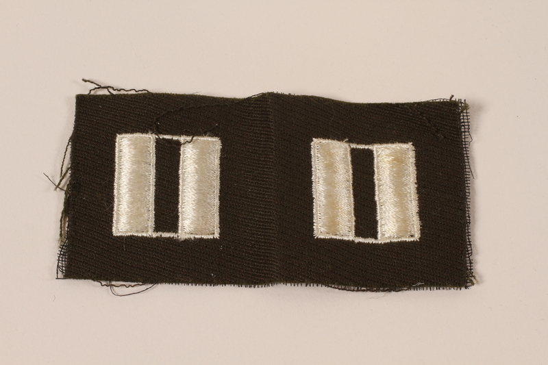 2006.11.26 front US Army captain's insignia patch worn by a Jewish soldier