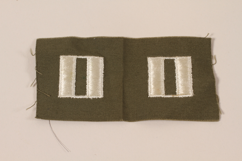 2006.11.29 front US Army captain's insignia patch worn by a Jewish soldier