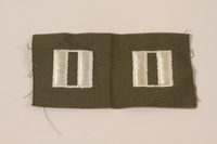 2006.11.29 front US Army captain's insignia patch worn by a Jewish soldier  Click to enlarge