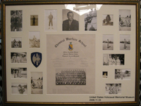 2006.11.33, Framed certificate and pictures of J. George Mitnick in uniform, J. George Mitnick Collection