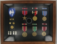 2006.11.44%2C%20Framed%20shadow%20box%20of%20military%20medals%2C%20ribbons%2C%20and%20insignia%2C%20J.%20George%20Mitnick%20Collection