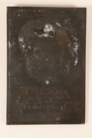 2006.258.11 back Adolf Hitler bas-relief commemorative plaque aquired by a US soldier  Click to enlarge