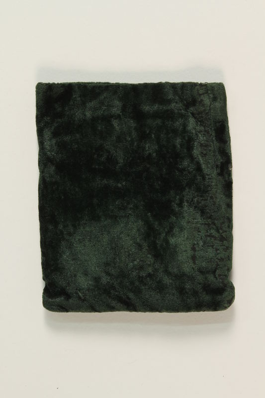 2006.285.4_c front Tefillin and green velvet pouch used by a Polish Jewish survivor