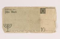 2007.45.101 back Łódź (Litzmannstadt) ghetto scrip, 10 mark note  Click to enlarge