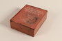 Metal school supply box inscribed in Yiddish used by a Polish Jewish teenager
