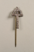 2006.483.2 front Kronenkreuz crucifix stickpin of the Inner Mission charity  Click to enlarge