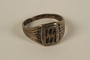 SS insignia ring taken from a concentration camp guard by inmates to give to a US soldier