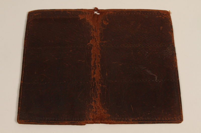 2007.196.3 front Leather billfold used by a German Jewish refugee from Nazi Germany to Canada