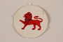 Boy Scout badge with an embroidered red lion worn by a Jewish refugee in Shanghai