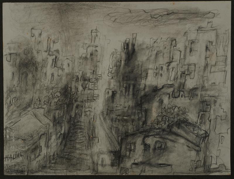 2001.122.297.1 front Halina Olomucki drawing