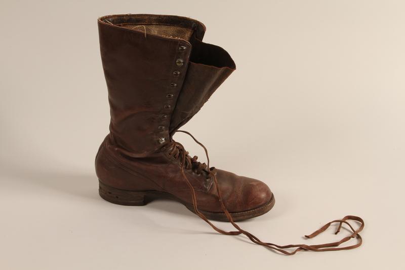 2001.258.7 b front SA uniform boots