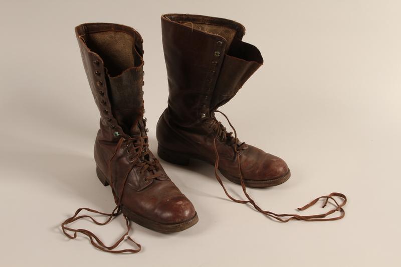 2001.258.7 a-b front SA uniform boots