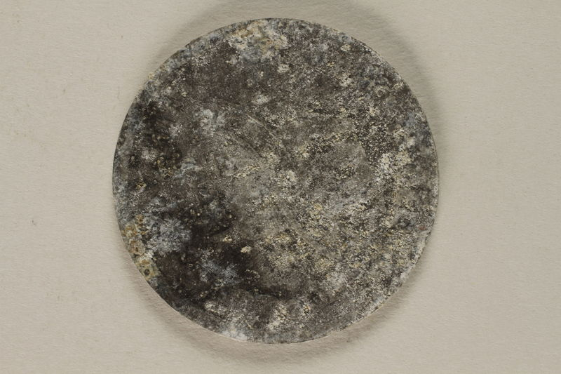 2002.58.5 back Lodz (Litzmannstadt) ghetto scrip, 10 mark coin