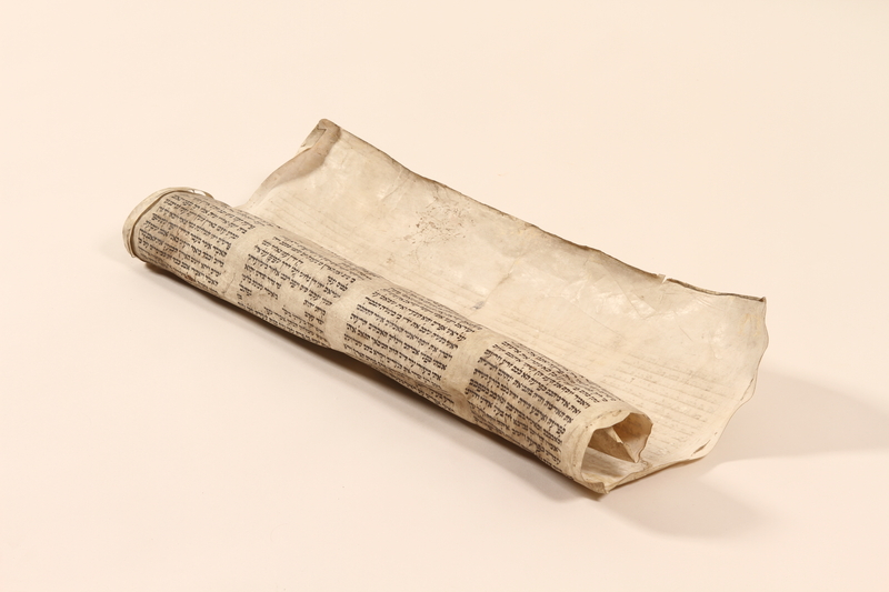 2002.430.1 front Torah scroll fragment from Poland